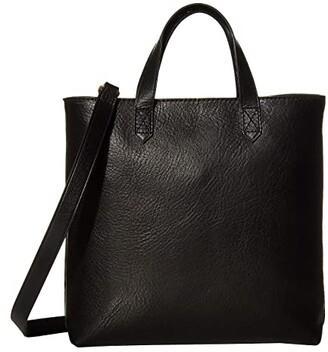 Madewell Small Inset Zip Transport Crossbody (True Black) Handbags