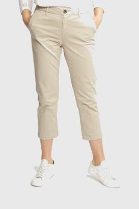 Fat Face Womens FatFace Lulworth Crop Chino - Natural