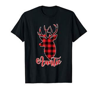 Buffalo David Bitton Funny Plaid Auntie Reindeer Christmas Family Gift T-Shirt