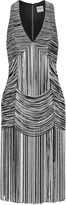 Haute Hippie Fringed cotton-blend mini dress
