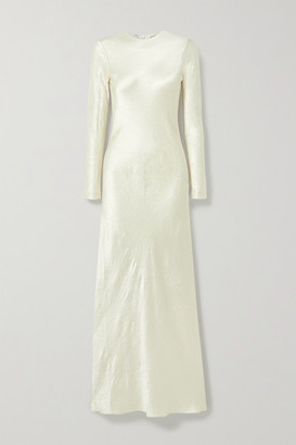 Co Crinkled-satin Maxi Dress - Cream