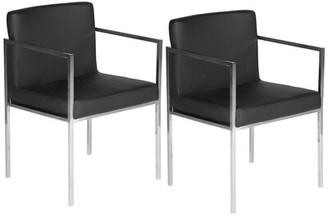 Gary Upholstered Arm Chair Orren Ellis Upholstery Color: Black