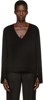 Helmut Lang Black V-neck Sweater