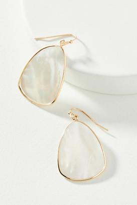 Anthropologie Marguerite Mother-Of-Pearl Drop Earrings By in White