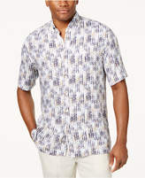Tasso Elba Men's Herringbone Print Shirt, Created for Macy's