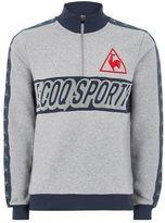Le Coq Sportif Gray Football Zip Sweatshirt
