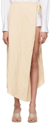 Y/Project Beige Cotton Skirt