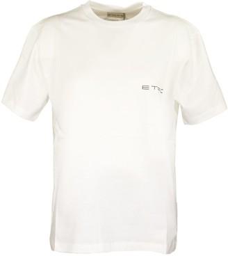 Etro T-shirt Back Print Logo White