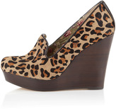 Seychelles Budapest Wedge Loafer, Leopard-Print