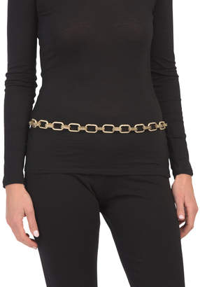Made In Italy Gold Plated Hammered Chain Belt