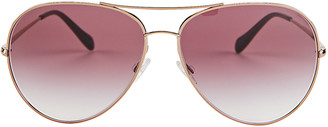 Oliver Peoples Sayer Oversized Aviator Sunglasses