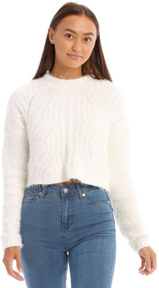 Miss Shop Fluffy Cable Jumper