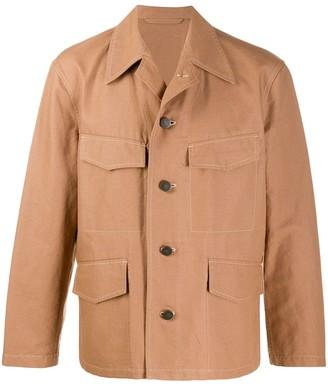 Lemaire Cropped Sleeve Multi-Pocket Shirt Jacket