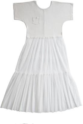 White Tulle Dress Store Stock