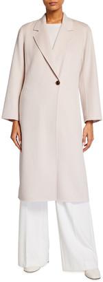 Neiman Marcus Cashmere Double Face Notch-Collar Long Coat