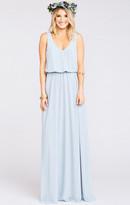 MUMU Kendall Maxi Dress ~ Steel Blue Chiffon
