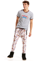 Peter Alexander peteralexander Mens Woody Fleece Drop Crotch Pj Pant