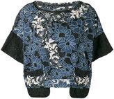Antonio Marras embroidered floral top - women - Cotton/Polyamide/Polyester/Spandex/Elastane - 44