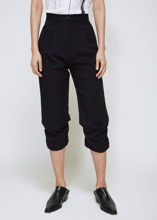 Ann Demeulemeester Ankle Pleat Trousers