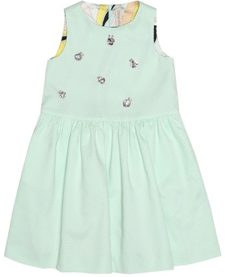 Emilio Pucci Kids Embellished stretch-cotton dress