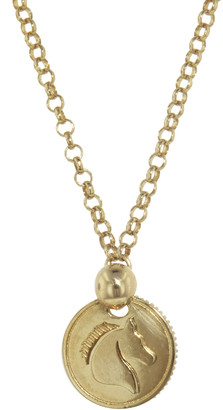 Foundrae Horse Coin On Belcher Necklace - Yellow Gold