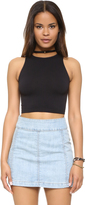 Free People High Neck Crop Seamless Cami