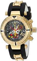 Invicta Women's 'Disney Limited Edition' Swiss Quartz Stainless Steel and Silicone Casual Watch, Color:Two Tone (Model: 22737)