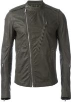 Rick Owens zipped leather jacket - men - Calf Leather/Cupro - 54