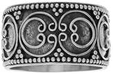 Journee Collection Women's Circular Bali Design Wide-cut Ring in Sterling Silver