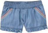 Crazy 8 Chambray Denim Ruffle-Hem Shorts - Infant, Toddler & Girls