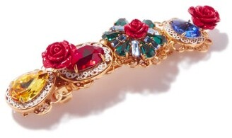Dolce & Gabbana Rose And Crystal-embellished Hair Clip - Multi
