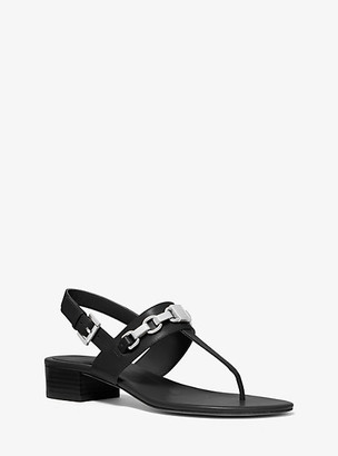 Michael Kors Charlton Leather Block-Heel Sandal