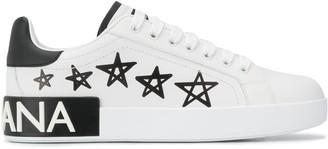 Dolce & Gabbana Portofino star print sneakers
