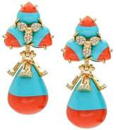 Lele Sadoughi Striped Orchid Earrings