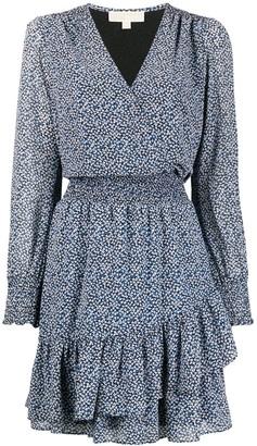 MICHAEL Michael Kors Micro-Floral Print Mini Dress