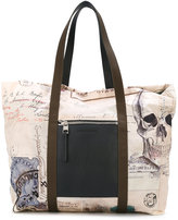 Alexander McQueen India print shopping tote - men - Leather/Polyamide - One Size