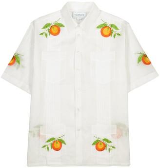 Casablanca Les Oranges Blanche white cotton shirt