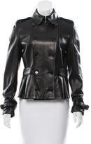 Burberry Leather Double-Breasted Jacket