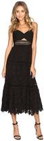Rebecca Taylor Stretch Pique Lace Dress