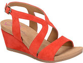 Softspots Comfortiva by Suede Wedge Sandals - Vandy