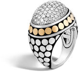 John Hardy Dome Ring with Diamonds
