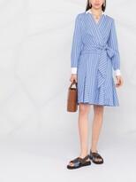 Thumbnail for your product : Lauren Ralph Lauren Inez wrap-around pinstripe dress