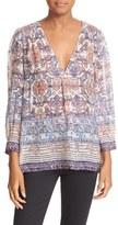 Joie Aceline Print Silk Shirt