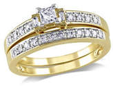 Concerto 0.33CT Multi-Shape Diamond 14K Yellow Gold Bridal Set