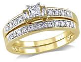 Concerto 0.33CT Multi-Shape Diamond 14K Yellow Gold Bridal Set