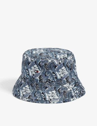 Tommy Hilfiger Reversible floral-print cotton bucket hat