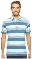 True Grit Stacked Stripe Short Sleeve Polo