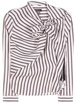 Isabel Marant Striped Ramie And Silk Blend Shirt