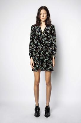 Zadig & Voltaire Reveal Velvet Blossom Dress