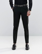 Asos Skinny Suit Pants with Contrast Lapel